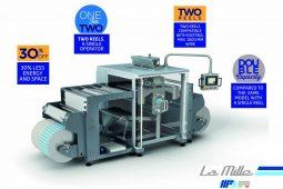 Maquina multi-pistas de sachets de duas bobinas